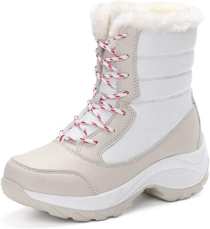 R-Anketsy Women Snow Boots Winter Keep Warm shoes Autumn Female Mid-Calf Platform Boots