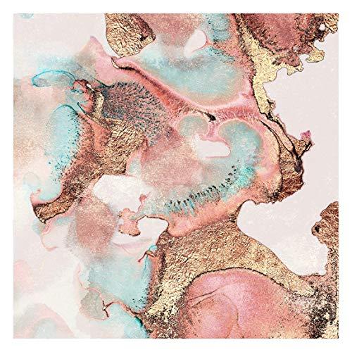 Bilderwelten Carta da Parati Soggiorno - Oro Acquerello rosé- Formato Quadrato 192 x 192cm