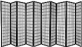 10 Panel Room Divider Square Design Black