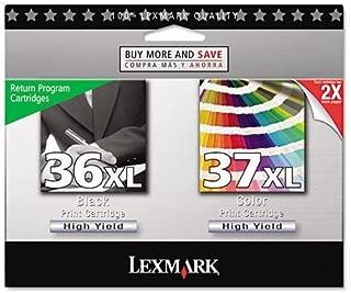 LEX18C2249 - Lexmark No. 36XL/No. 37XL Black and Color High Yield Return Program Ink Cartridges