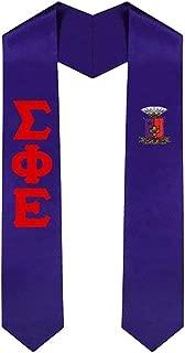 greek graduation stoles with crest