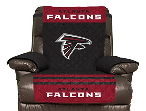 NFL Atlanta Falcons Recliner Reversible Furniture Protector with Elastic Straps, 80-inches by 65-inches