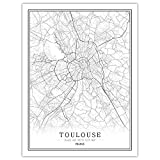 Lonfenner Leinwand Bild,Toulouse Frankreich Abstrakte Farbe