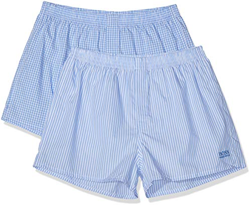 BOSS Herren Nos Boxer Cw 2P Schlafanzughose, Blau (Open Blue 470), Medium (2er Pack)