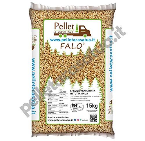 PELLET FALO' 100% CONIFERA - ENPLUS A1 - ALTO POTERE CALORIFICO (1 SACCO DA 15 KG)