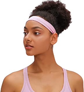 Mndrlin Yoga Headbands for Women Lightweight Elastic Exercise Band Non Slip Moisture Wicking Sweatband Running Cycling Workout Sports Indoor Fitness