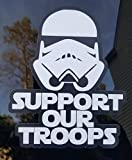 Minglewood Trading Support Our Troops Die Cut Vinyl Sticker 5' x 4' Military Stormtrooper Army