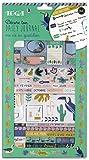 Toga Kit de décoration Bullet Journal - Jungle, Bleu, Vert et Jaune, taille unique