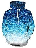 AIDEAONE Sudaderas unisex con capucha 3D Galaxy Animal Print Pullover Fleece Sudaderas con capucha con bolsillos S-4XL