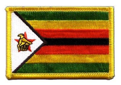 Aufnäher Patch Flagge Simbabwe - 8 x 6 cm