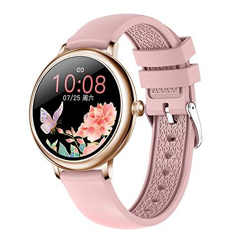 LZXMXR Pulsera inteligente de 1,08 pulgadas, pantalla a color, información de empuje Bluetooth, reloj deportivo, recordatorio de llamadas inteligentes Android e iOS (color : polvo)