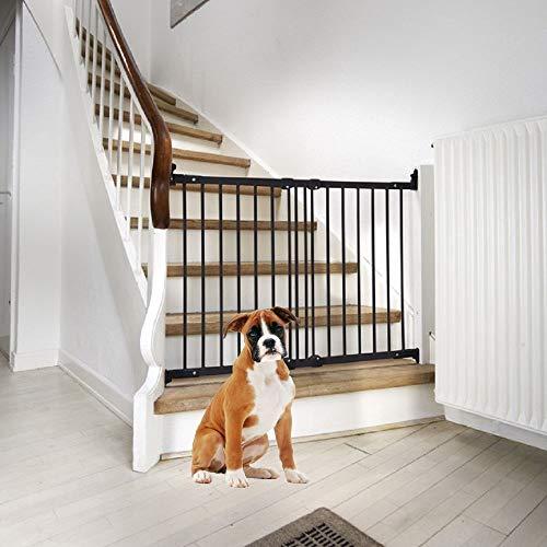 Bettacare Barrière d'escalier pour chien en diagonale Noir
