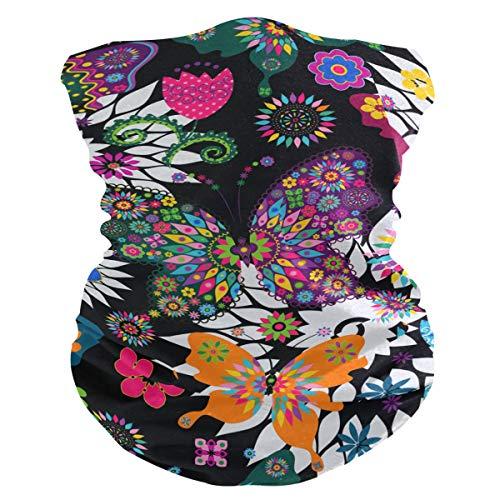 Hengpai - Polainas de cuello para mujer, bufanda de cara, polvo, pasamontañas, unicornio, color Multicolor 10, tamaño talla única