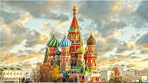 100/300/500/1000 piezas juego de rompecabezas juguetes para niños adultos,Catedral de San Basilio Kremlin de Moscú conjunto de juguetes educativos para niños