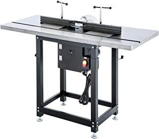 Grizzly Industrial T28781 - Router Table with Lift and Cast Iron Wings