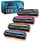 Kogain Compatible Toner Cartridge Replacement for HP 131X 131A CF210A CF211A CF212A CF213A Work with HP Laserjet Pro 200 Color M251 M251n M251nw Printer 4-Pack(1 Black, 1 Cyan, 1 Magenta, 1 Yellow)
