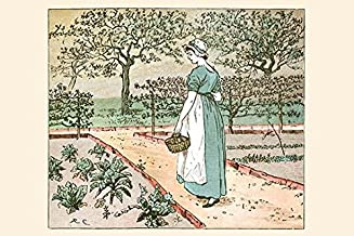The Great Panjandrum Himself A girl goes into the garden to cut a cabbage leaf to make an apple Pie Poster Print by Randolph Caldecott (24 x 36)