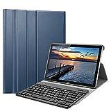 Fintie Bluetooth QWERTZ Tastatur Hülle für Huawei Mediapad M5/M5 Pro 10.8 Zoll - Ständer Schutzhülle mit Magnetisch Abnehmbarer Drahtloser Deutscher Bluetooth Tastatur, Marineblau