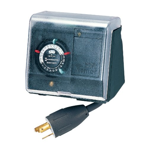 Intermatic P1131 Heavy Duty Above Ground Pool Pump Timer with Twist Lock Plug and Receptacle, Black