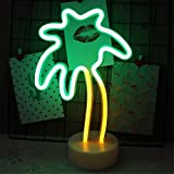 Fantasee Coconut Tree Night Light LED Neon Light Sign Battery Operated for Living Room Bedroom Home Wedding Party Christmas Birthday Gift Festival