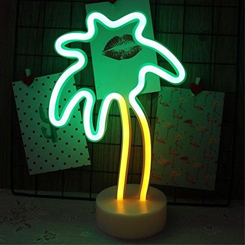 Kokospalme Leuchtreklame, Fantasee Dekorative LED Neon Nachtlicht Batteriebetrieb für Home Party Decor Kinder Spielzeug Geburtstagsgeschenk