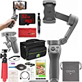 DJI OSMO Mobile 3 Lightweight and Portable 3-Axis Handheld Gimbal Stabilizer with Active Track 3.0 Essentials Bundle with Deco Gear Photography Case + Compact Tripod + High Speed Memory Card