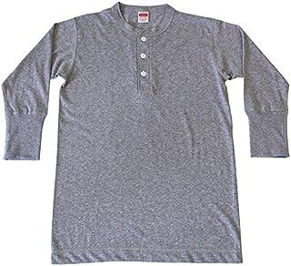 Healthknit ヘルスニット #950 3/4 Sleeve Henley Neck 7分袖 ヘンリーネック Tシャツ