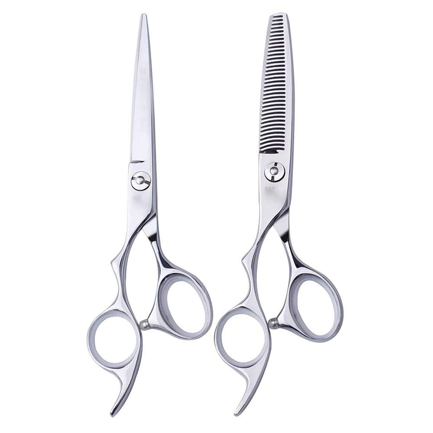 不透明なはしご資本6インチ美容院プロのヘアカット左手はさみ理髪はさみ、左利き用特殊理髪はさみプロの本格的なツール モデリングツール (色 : Silver, Design : Flat)