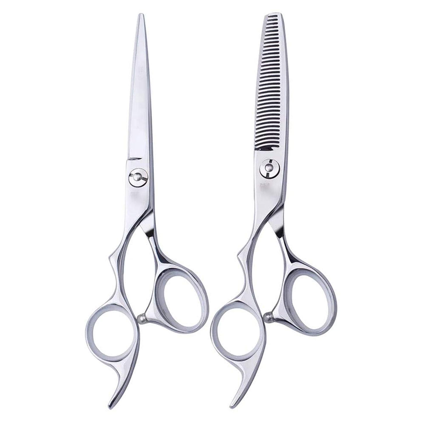 順応性のある報酬のジャンクション6インチ美容院プロのヘアカット左手はさみ理髪はさみ、左利き用特殊理髪はさみプロの本格的なツール モデリングツール (色 : Silver, Design : Flat)