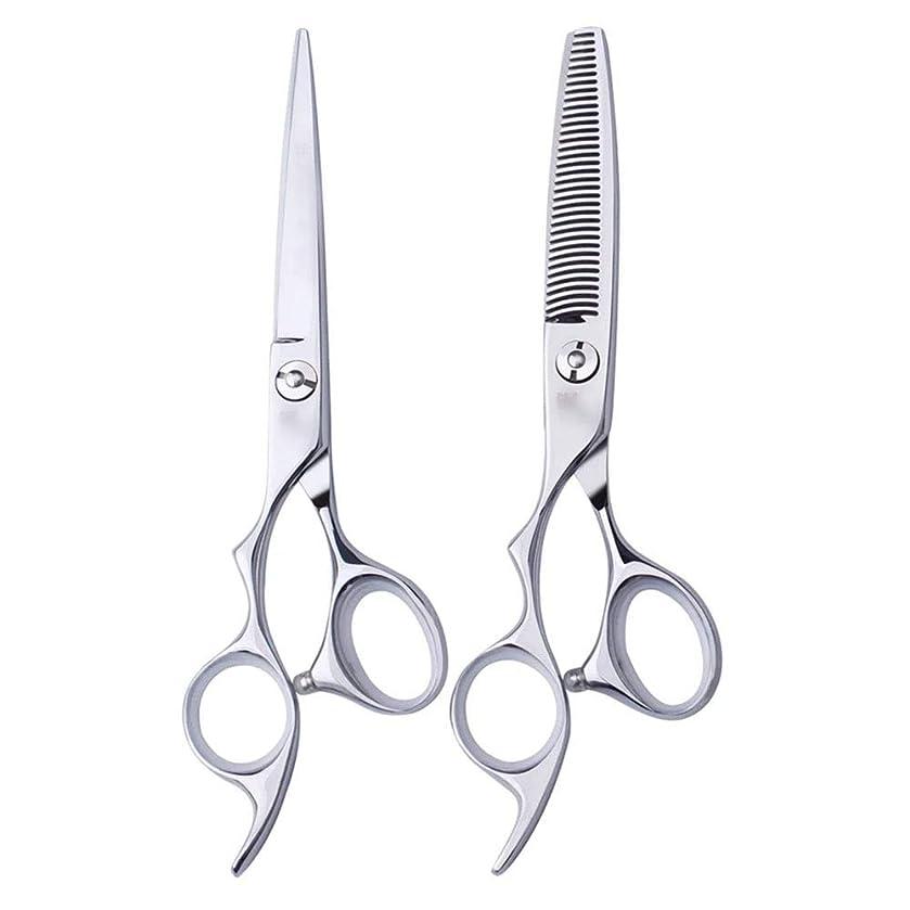 同盟アソシエイト巻き取り6インチ美容院プロのヘアカット左手はさみ理髪はさみ、左利き用特殊理髪はさみプロの本格的なツール モデリングツール (色 : Silver, Design : Flat)