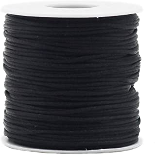 Satin Rattail Silk Nylon Cord Balck 1.5mm 70mfor Braided Necklace Bracelet Beading Jewelry Making Accessory