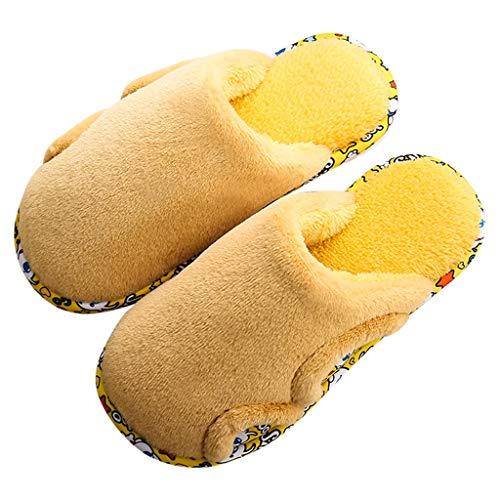 UXZDX Zapatillas De Invierno para Mujer, Cómodas, Cálidas, Suela Suave, Interior, Dormitorio, Casa, Zapatillas (Color : Yellow, Size : 38-39)
