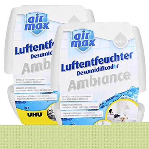 2x Uhu Air Max Ambiance 500g, weiß Luftentfeuchter