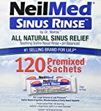 NeilMed Sinus Rinse All Natural Relief Premixed Refill Packets (Pack of 100)