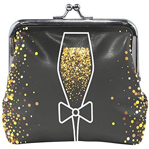 Copa de Vino de champán de Oro Brillante Celebre el...