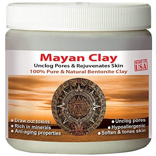 Maya Secret Indian Healing Clay Tiefenreinigung Gesicht & Heilung Körpermaske die Original 100% natürliche Calcium Bentonit Ton (1 Pfund)