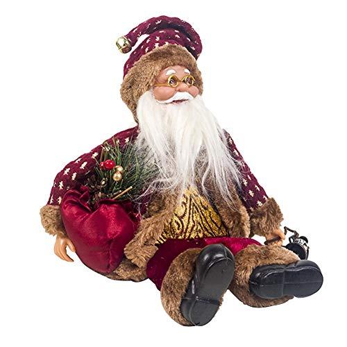 Kitabetty Weihnachten Puppe Spielzeug, Weihnachtsmann-Plüsch-Spielzeug-Puppe Weihnachtsdekoration, Weihnachtssitzende Puppe Dekoration Weihnachtsdekoration Kinder Spielzeug