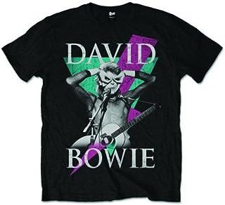 David Bowie Thunder Aladdin Sane Rock 公式Tシャツ メンズ ユニセックス US サイズ: Small カラー: ブラック