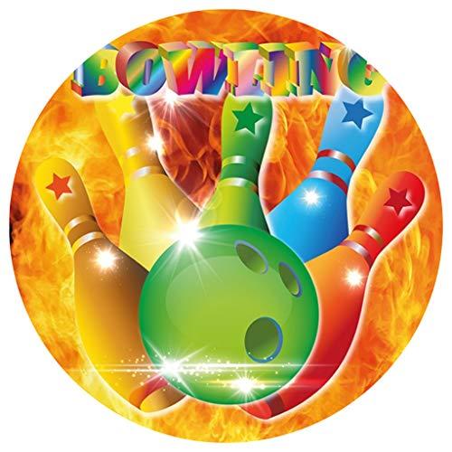CISL Tortenaufleger Tortenfoto Aufleger Foto Bild Bowling (6) rund ca. 20 cm *NEU*OVP*