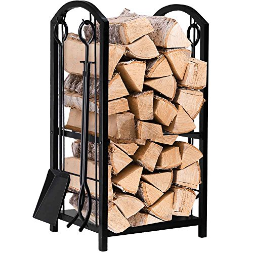 Best fireplace wood rack with tools