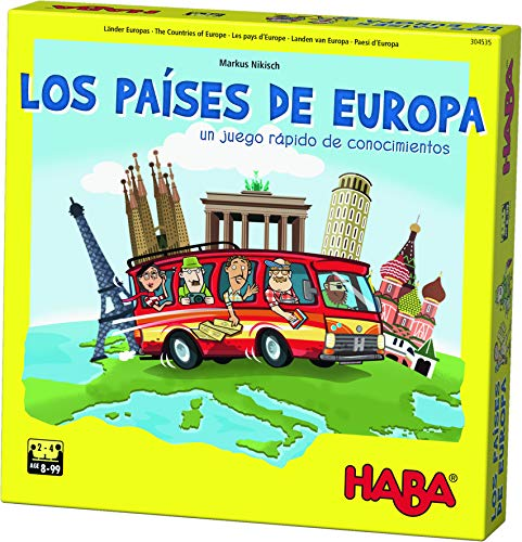 HABA- Juego Mesa, Los Países Europa, Multicolor Habermass