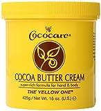 Cococare Cocoa Butter Cream Super Rich Formula for Hand & Body, The Yellow One, 15 Oz
