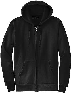 Joe`s USA Full Zipper Hoodies - Hooded Sweatshirts Size 2XL, Black