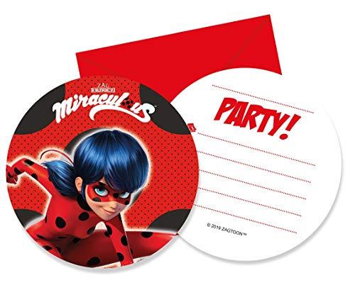 Prezer Miraculous Ladybug 6 Einladungskarten