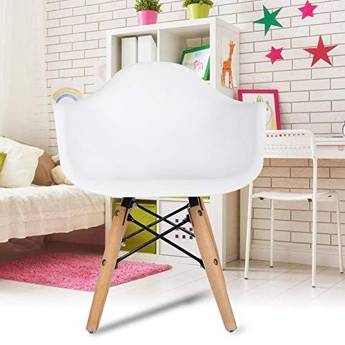 Estink Silla para niños, sillas blancas, silla de comedor, silla de café o silla para el tiempo libre, muebles de salón para pintura/lectura/juego de grupo en clase y casa, 42 x 42,5 x 50 cm