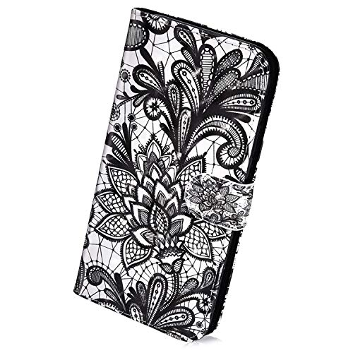 Best Bargain Herbests Compatible with Huawei P30 Lite Wallet Case Protective Flip Leather Cover Retr...