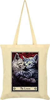 Deadly Tarot Felis The Lovers Tote Bag Cream 38x42cm