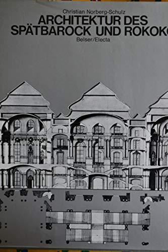 Architektur des Spätbarock und Rokoko