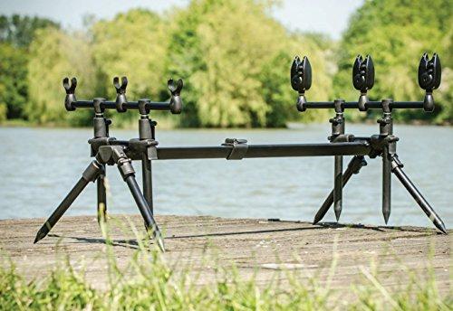 LEEDA 3 in 1 Rod Pod + Carrycase Rogue-Caballete 3 en 1 para caña de Pescar + Estuche, Unisex Adulto, Otros, Talla única