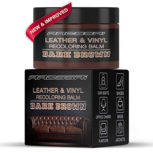 ARCSSAI Leather Recoloring Balm/Leather Repair Cream for Couches - Renew, Repair & Restore Aged, Faded, Peeling and Scuffed Leather & Vinyl Couches, Sofa or Car Seats, Furniture (Dark Brown)